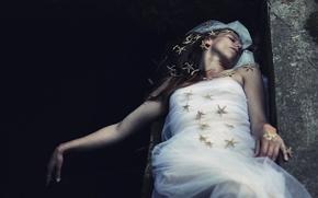 Picture girl, mermaid, sleep, the situation, stars, Berta