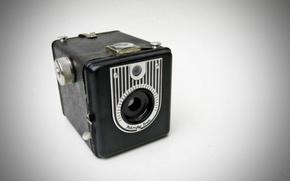 Picture macro, background, Handy Box Vintage Camera
