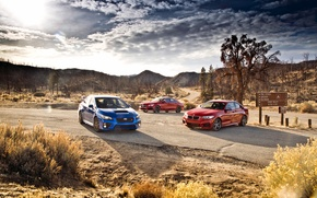 Picture BMW, Subaru, BMW, Mercedes, Mercedes, Subaru