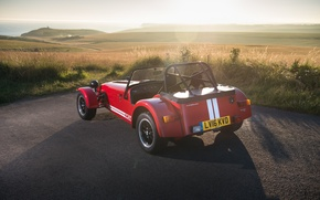 Picture the sky, sports car, car, Seven, rear view, Caterham, Caterham, 310R