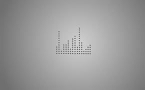 Picture music, grey, squares, equalizer, the volume, bit