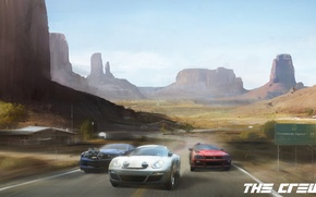 Picture machine, track, nissan, Race, porsche, chevrolet, canyons, the crew