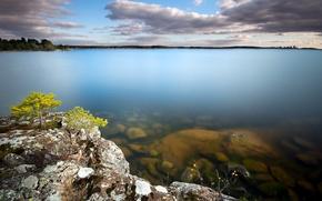 Wallpaper sea, the sky, landscape, rocks
