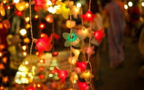 Picture winter, decoration, New Year, garland, holidays