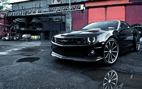 Picture Chevrolet, Machine, Tuning, Camaro, Camaro, Car, Car, Beautiful, Black, Wallpapers, Tuning, Beautiful, Wallpaper, Automobiles, Voss, ...
