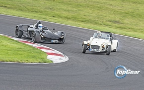 Picture Top Gear, Cars, Speed, Stig, Track, BAC Mono, Drifting, Caterham 160