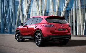 Picture red, photo, Mazda, back, Mazda, car, metallic, 2015, CX-5