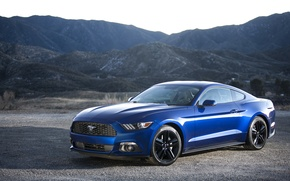 Picture Mustang, Ford, Blue, 2015, EcoBoost