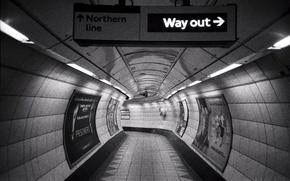Picture London, subway, corridor, urban scene