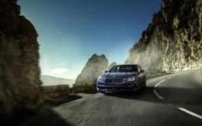 Picture Road, Blue, BMW, Movement, Car, xDrive, 2016, Alpina В7