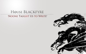 Picture black dragon, House Blackfyre, a song fire and ice