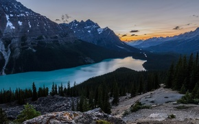 Picture the sky, mountains, river, Nature, nature, Jeff Wallace