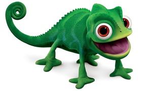 Wallpaper chameleon, Rapunzel, Pascal, long tongue
