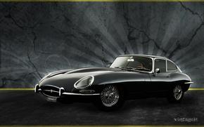 Picture sports car, JAGUAR E-TYPE, Jaguar And or Ikkai, English company
