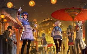 Picture joy, the city, mood, holiday, vocaloid, neon genesis evangelion, Vocaloid, people, soryu asuka langley, evangelion, ...