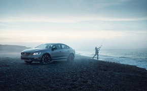 Picture Fog, Volvo, Shore, Cross Country, S60, Fisherman