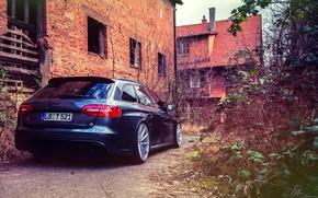 Picture Audi, Audi, rear, RS4, vossen wheels