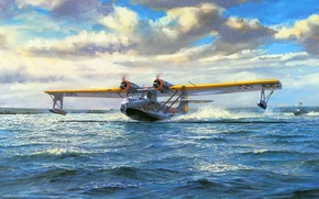 Picture figure, Maritime patrol bomber, flying boat, Consolidated PBY Catalina
