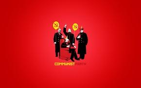 Wallpaper party, Karl Marx, Stalin, Mao Zedong, communism, communist, the Communists, balloons, cap, hammer, Lenin, chair, ...