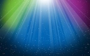Picture rays, light, Aurora, overflow