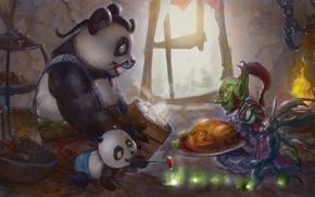 Picture fantasy, the game, Panda, World of Warcraft, Wow