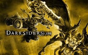 Picture war, monster, battle, darksiders