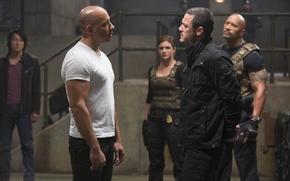 Picture VIN Diesel, Dwayne Johnson, Vin Diesel, Dwayne Johnson, Dominic Toretto, Fast and furious 6, Luke …