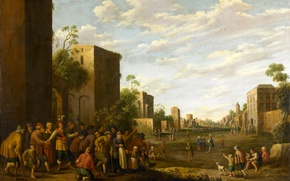 Picture picture, genre, The Jost Cornelis Dropcloth, The provision of Housing for the Poor