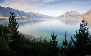 Picture lake, rocks, needles