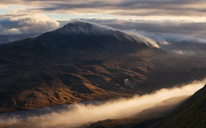Picture clouds, mountains, hills, England, Scotland, UK, white mountain