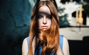Picture summer, girl, freckles, red hair, women, face, redhead, freckles