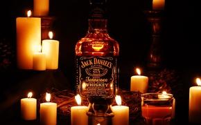Picture Bottle, Jack Daniels, Jack Daniels, Candles.