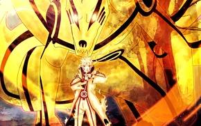 Picture Naruto, Anime, Flame, Ninja, Uzumaki, Naruto Shippuden, Blonde Hair, Manga, Bijuu Dama, Chakra, Bijuu Mode, ...