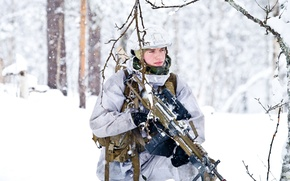 Picture snow, soldiers, Norwegian Army