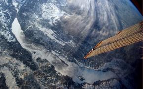 Wallpaper lake, view, satellite, Baikal, from space
