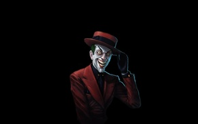 Picture red, hat, batman, smile, comic, mad, intellectual, Joker, Joker, Batman, costume