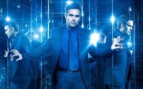 Wallpaper tie, reflection, Now You See Me 2, blue, jacket, Mark Ruffalo, mirror, Mark Ruffalo, The ...