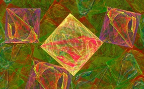 Picture color, abstraction, background, Wallpaper, figure, squares, fractal, objects, diamonds