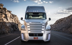 Picture track, front view, Truck, Freightliner, Daimler, Inspiration