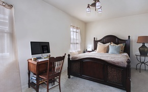 Picture photo, Design, Bed, Pillow, Chandelier, Interior, Bedroom, Chairs