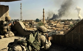 Wallpaper weapons, war, soldiers, Iraq