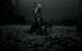 Wallpaper rain, dark, killer, rain, creed, assassins, assassin, the creed of the assassins, Assassin's Creed 3, ...