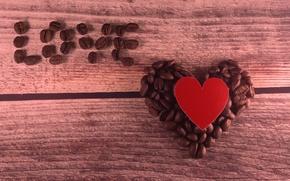 Picture love, heart, coffee, grain, love, heart, romantic, valentines