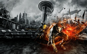Picture Background, Sucker Punch, Video Game, inFamous: Second Son, Delsin Rowe, PS4, Sony Computer Entertainment, Second …