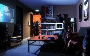 Picture room, batman, starcraft, Far Cry, date, mass effect, crysis, crossover, raiden, iron man, fan art, …