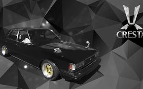 Picture black, toyota, cresta, gx51