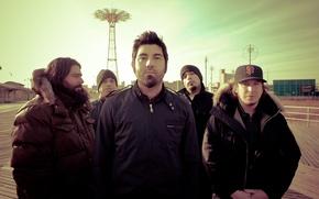 Picture Deftones, Frank Delgado, Abe Cunningham, Nu Metal, Stephen Carpenter, Chino Moreno, Sergio Vega