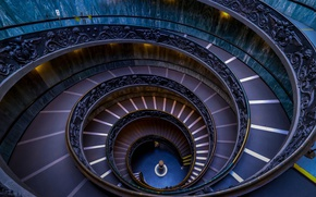 Wallpaper spiral, Rome, Italy, ladder, The Vatican, The Vatican Museums