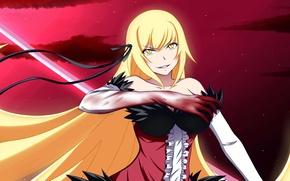 Picture Anime, bakemonogatari, oshino shinobu, history of monsters, blood., kissshot acerolaorion heartunderblade