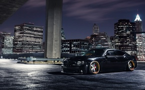 Picture the city, black, black, Dodge, dodge, charger, srt8, the charger